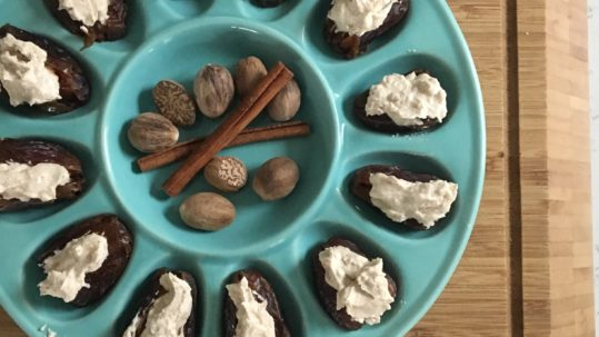 Spiced Goat Cheese Stuffed Dates